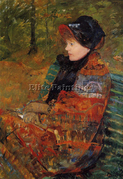 MARY CASSATT AUTUMN AKA PROFILE OF LYDIA CASSATT ARTIST PAINTING HANDMADE CANVAS