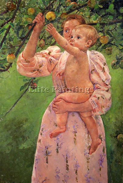 MARY CASSATT BABY REACHING FOR AN APPLE ARTIST PAINTING REPRODUCTION HANDMADE