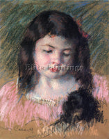 MARY CASSATT BUST OF FRANCOISE LOOKING DOWN ARTIST PAINTING HANDMADE OIL CANVAS