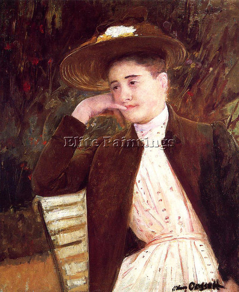 MARY CASSATT CELESTE IN A BROWN HAT ARTIST PAINTING REPRODUCTION HANDMADE OIL