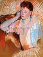 MARY CASSATT CLARISSA TURNED LEFT WITH HER HAND TO HER EAR ARTIST PAINTING REPRO