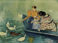 MARY CASSATT FEEDING THE DUCKS ARTIST PAINTING REPRODUCTION HANDMADE OIL CANVAS