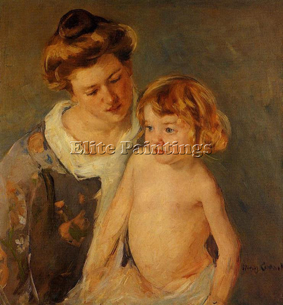 MARY CASSATT JULES STANDING BY HIS MOTHER ARTIST PAINTING REPRODUCTION HANDMADE