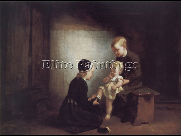 BRITISH CATHERINE BISSCHOP SWIFT MOTHERLY LOVE ARTIST PAINTING REPRODUCTION OIL