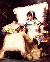 BRITISH CHARLES BURTON BARBER THE TWO INVALIDS CR ARTIST PAINTING REPRODUCTION
