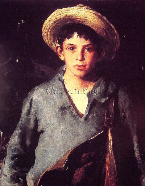 AMERICAN CHARLES HAWTHORNE PORTUGESE FISHERBOY ARTIST PAINTING REPRODUCTION OIL