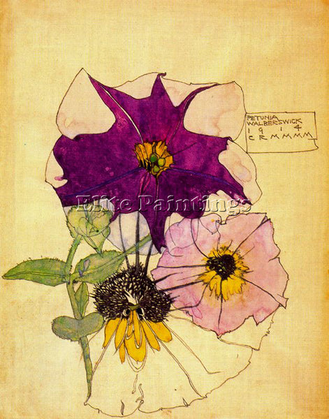 CHARLES RENNIE MACKINTOSH CA1D20IR ARTIST PAINTING REPRODUCTION HANDMADE OIL ART