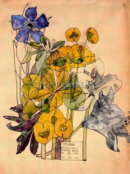 CHARLES RENNIE MACKINTOSH CAYN01EF ARTIST PAINTING REPRODUCTION HANDMADE OIL ART