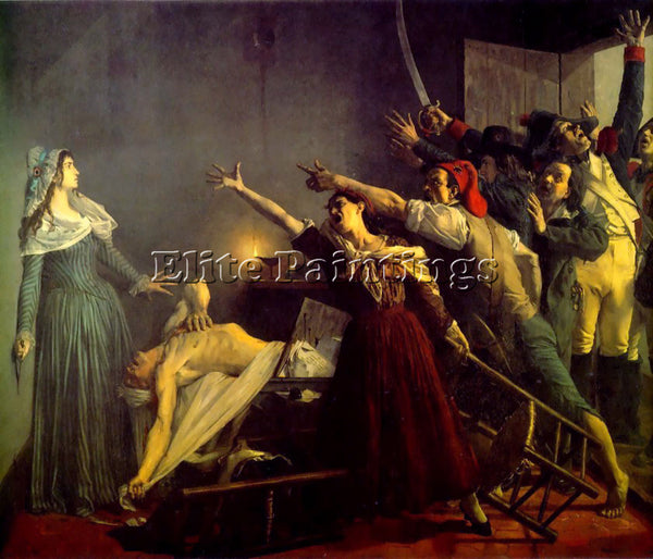 BELGIAN CHARLOTTE CORDAY THE ASSASSINATION OF MARAT ARTIST PAINTING REPRODUCTION