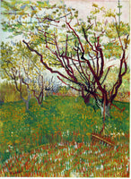 VAN GOGH CHERRY TREE 2 ARTIST PAINTING REPRODUCTION HANDMADE CANVAS REPRO WALL