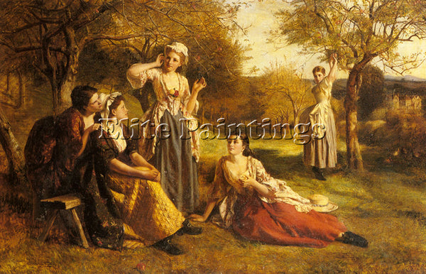 BRITISH CHESTER GEORGE FREDERICK A LOVE SPELL ARTIST PAINTING REPRODUCTION OIL