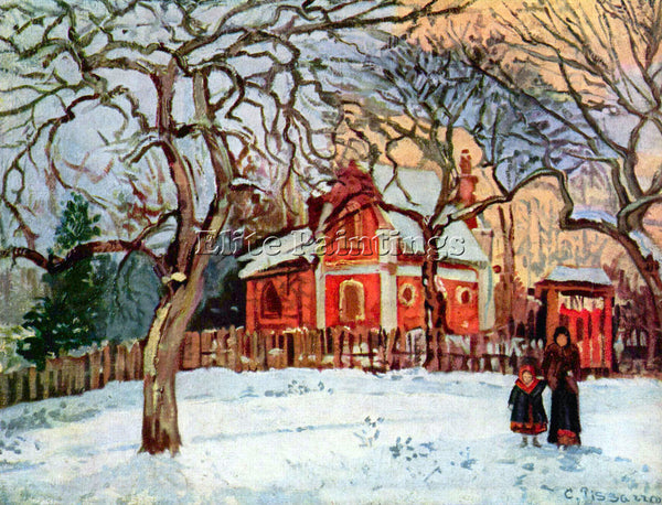 PISSARRO CHESTNUT TREES IN LOUVECIENNES ARTIST PAINTING REPRODUCTION HANDMADE