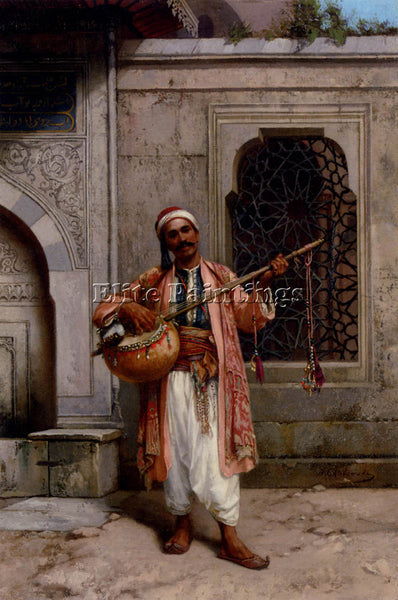 POLISH CHLEBOWSKI STANISLAUS MUSICIAN PLAYING BEFORE MOSQUE CONSTANTINOPLE REPRO