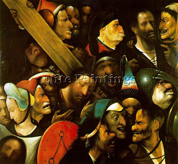 HIERONYMUS BOSCH CHRIST CARRYING THE CROSS 1 ARTIST PAINTING HANDMADE OIL CANVAS