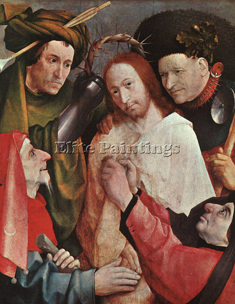 HIERONYMUS BOSCH CHRIST MOCKED ARTIST PAINTING REPRODUCTION HANDMADE OIL CANVAS