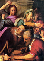 REMBRANDT CHRIST DRIVING THE MONEY CHANGERS FROM THE TEMPLE ARTIST PAINTING OIL
