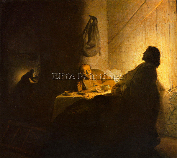 REMBRANDT CHRISTUS IN EMMAUS 2  ARTIST PAINTING REPRODUCTION HANDMADE OIL CANVAS