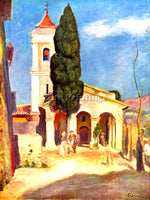 RENOIR CHURCH IN CAGNES ARTIST PAINTING REPRODUCTION HANDMADE CANVAS REPRO WALL