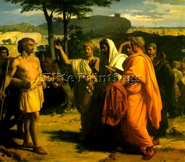 ALEXANDRE CABANEL CINCINNATUS RECEIVING DEPUTIES OF THE SENATE PAINTING HANDMADE