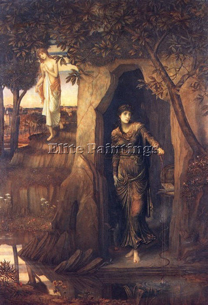 JOHN MELHUISH STRUDWICK CIRCLE OF SCYLLA ARTIST PAINTING REPRODUCTION HANDMADE