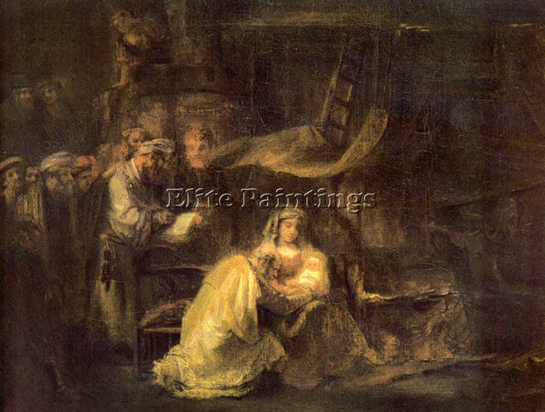 REMBRANDT CIRCUMCISION OF CHRIST ARTIST PAINTING REPRODUCTION HANDMADE OIL REPRO