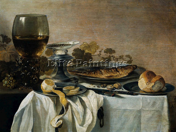 PIETER CLAESZ 47FISH ARTIST PAINTING REPRODUCTION HANDMADE OIL CANVAS REPRO WALL