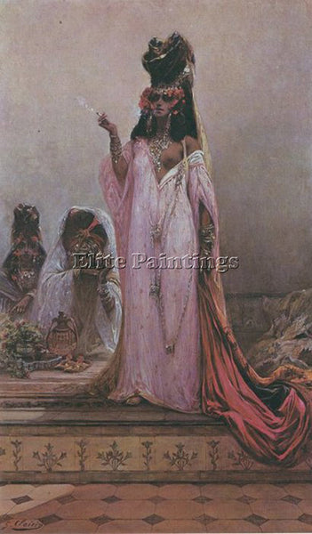 GEORGES JULES VICTOR CLAIRIN  HAREM WOMAN ARTIST PAINTING REPRODUCTION HANDMADE
