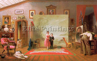 AMERICAN CLEAR THOMAS LE AMERICAN 1818 1882 ARTIST PAINTING HANDMADE OIL CANVAS