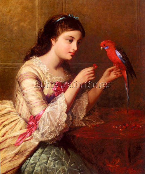 AMERICAN COBBETT EDWARD JOHN AN ATTENTIVE FRIEND ARTIST PAINTING HANDMADE CANVAS