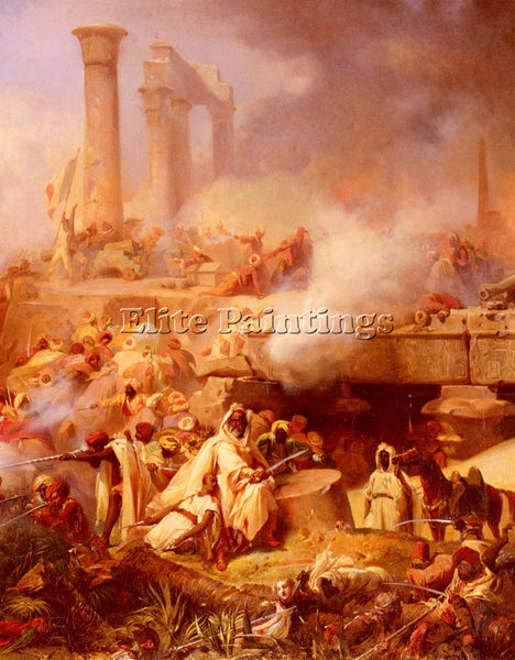 FRENCH COGNIET LEON BATAILLE D HELIOPOLIS ARTIST PAINTING REPRODUCTION HANDMADE