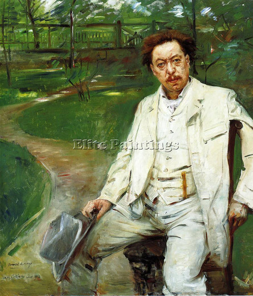 LOVIS CORINTH PORTRAIT OF THE PIANIST CONRAD ANSORGE ARTIST PAINTING HANDMADE