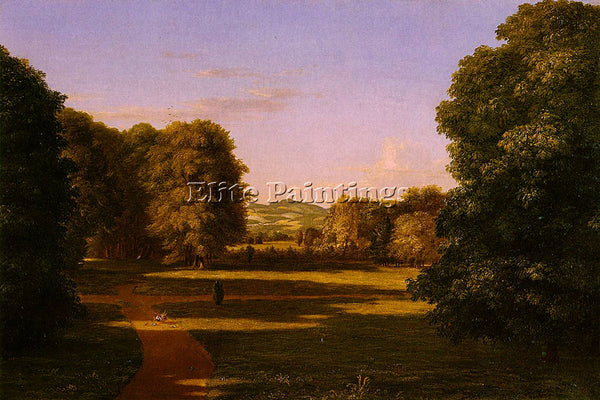 THOMAS COLE THE GARDENS OF THE VAN RENSSELAER MANOR HOUSE ARTIST PAINTING CANVAS