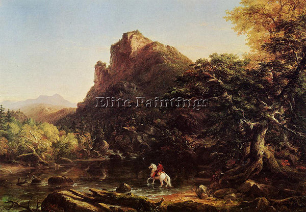 THOMAS COLE THE MOUNTAIN FORD ARTIST PAINTING REPRODUCTION HANDMADE CANVAS REPRO