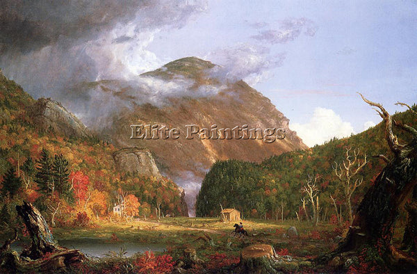 THOMAS COLE THE NOTCH OF THE WHITE MOUNTAINS CRAWFORD NOTCH ARTIST PAINTING OIL