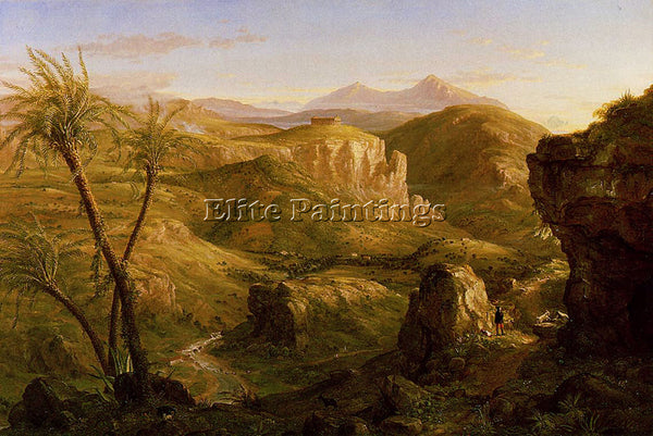 THOMAS COLE THE VALE AND TEMPLE OF SEGESTA SICILY ARTIST PAINTING REPRODUCTION