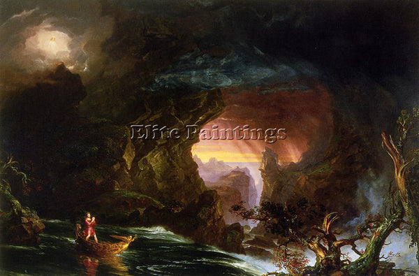 THOMAS COLE THE VOYAGE OF LIFE MANHOOD ARTIST PAINTING REPRODUCTION HANDMADE OIL