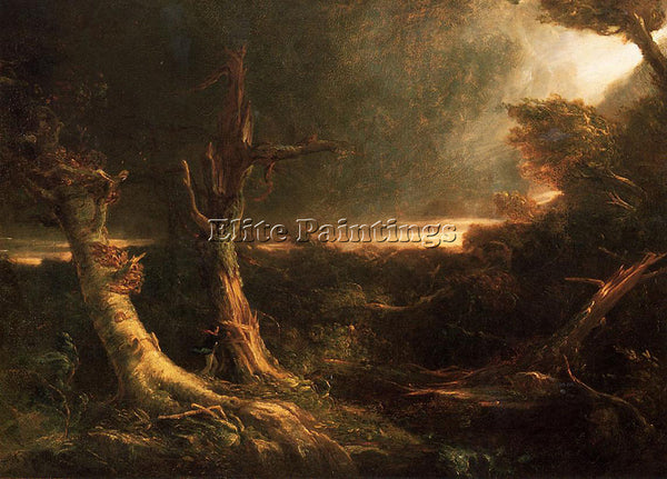 THOMAS COLE TORNADO ARTIST PAINTING REPRODUCTION HANDMADE CANVAS REPRO WALL DECO