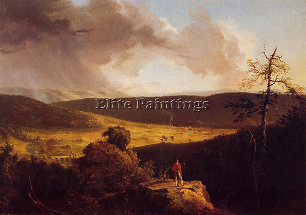 THOMAS COLE VIEW OF L ESPERANCE ON THE SCHOHARIE RIVER ARTIST PAINTING HANDMADE