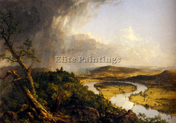 THOMAS COLE VIEW FROM MOUNT HOLYOKE NORTHAMPTON MASSACHUSETTS PAINTING HANDMADE