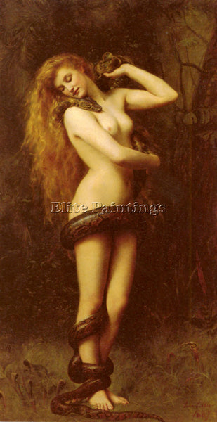JOHN COLLIER LILITH ARTIST PAINTING REPRODUCTION HANDMADE CANVAS REPRO WALL DECO