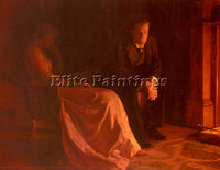 JOHN COLLIER THE CONFESSION ARTIST PAINTING REPRODUCTION HANDMADE OIL CANVAS ART