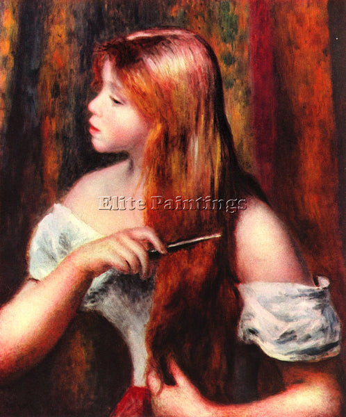 RENOIR COMBING GIRL ARTIST PAINTING REPRODUCTION HANDMADE CANVAS REPRO WALL DECO