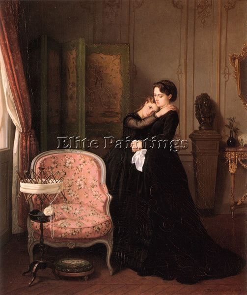 TOULMOUCHE AUGUSTE CONSOLATION ARTIST PAINTING REPRODUCTION HANDMADE OIL CANVAS