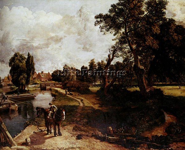 CONSTABLE FLATFORD MILL ARTIST PAINTING REPRODUCTION HANDMADE CANVAS REPRO WALL