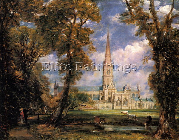 JOHN CONSTABLE SALISBURY CATHEDRAL ARTIST PAINTING REPRODUCTION HANDMADE OIL ART
