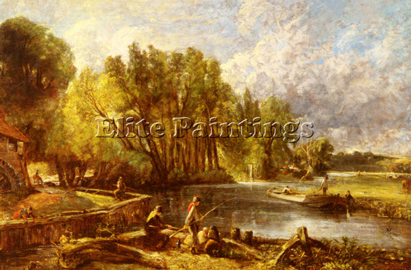 JOHN CONSTABLE THE YOUNG WALTONIANS ARTIST PAINTING REPRODUCTION HANDMADE OIL
