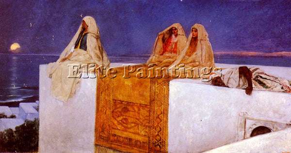 BENJAMIN JEAN JOSEPH CONSTANT ARABIAN NIGHTS ARTIST PAINTING HANDMADE OIL CANVAS