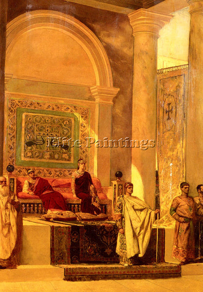 BENJAMIN JEAN JOSEPH CONSTANT THE THRONE ROOM IN BYZANTIUM ARTIST PAINTING REPRO