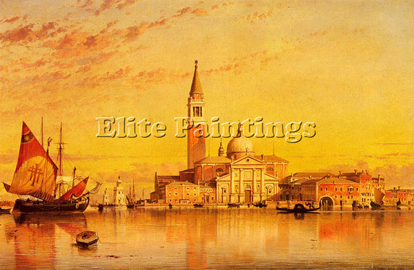 EDWARD WILLIAM COOKE SAN GIORGIO MAGGIORE VENICE ARTIST PAINTING HANDMADE CANVAS