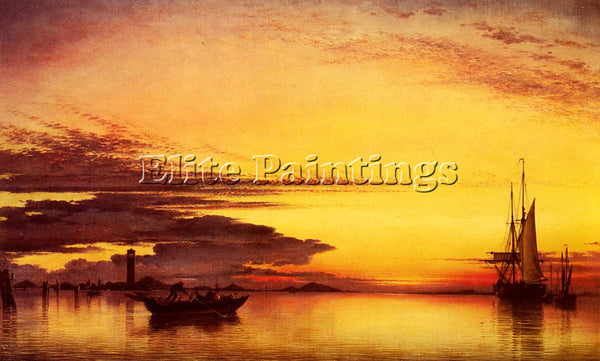 EDWARD WILLIAM COOKE SUNSET ON THE LAGUNE OF VENICE ARTIST PAINTING REPRODUCTION